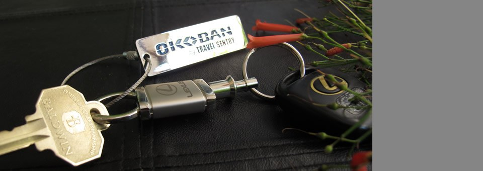 Losing your keys can leave you stranded, even worse than losing your luggage.  Add an Okoban UID Tracker Tag to help someone get you home sooner.